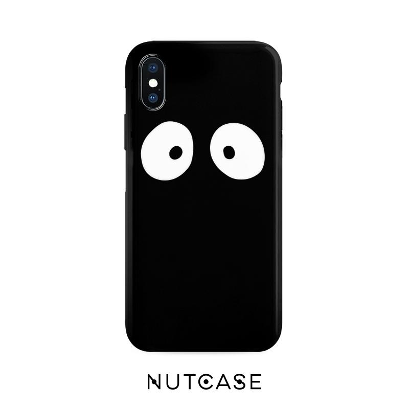 大眼睛iphone xs max手機殼蘋果XR 矽膠7p保護套8plus日系潮殼