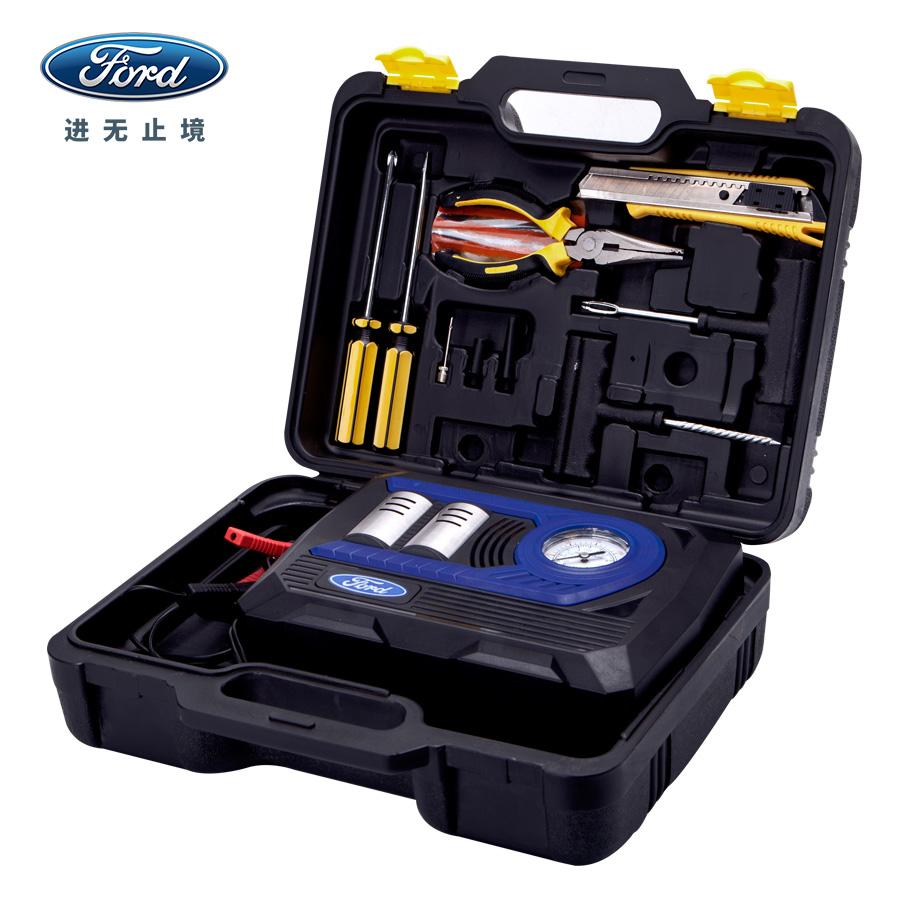 福特车载充气泵汽车用双缸大功率打气泵12v便携式电动轮胎冲加气
