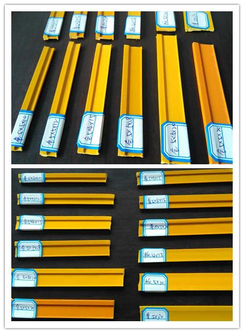 厂家直供全塑水磨石专用仿铜塑料分割条5*5*15mm600米