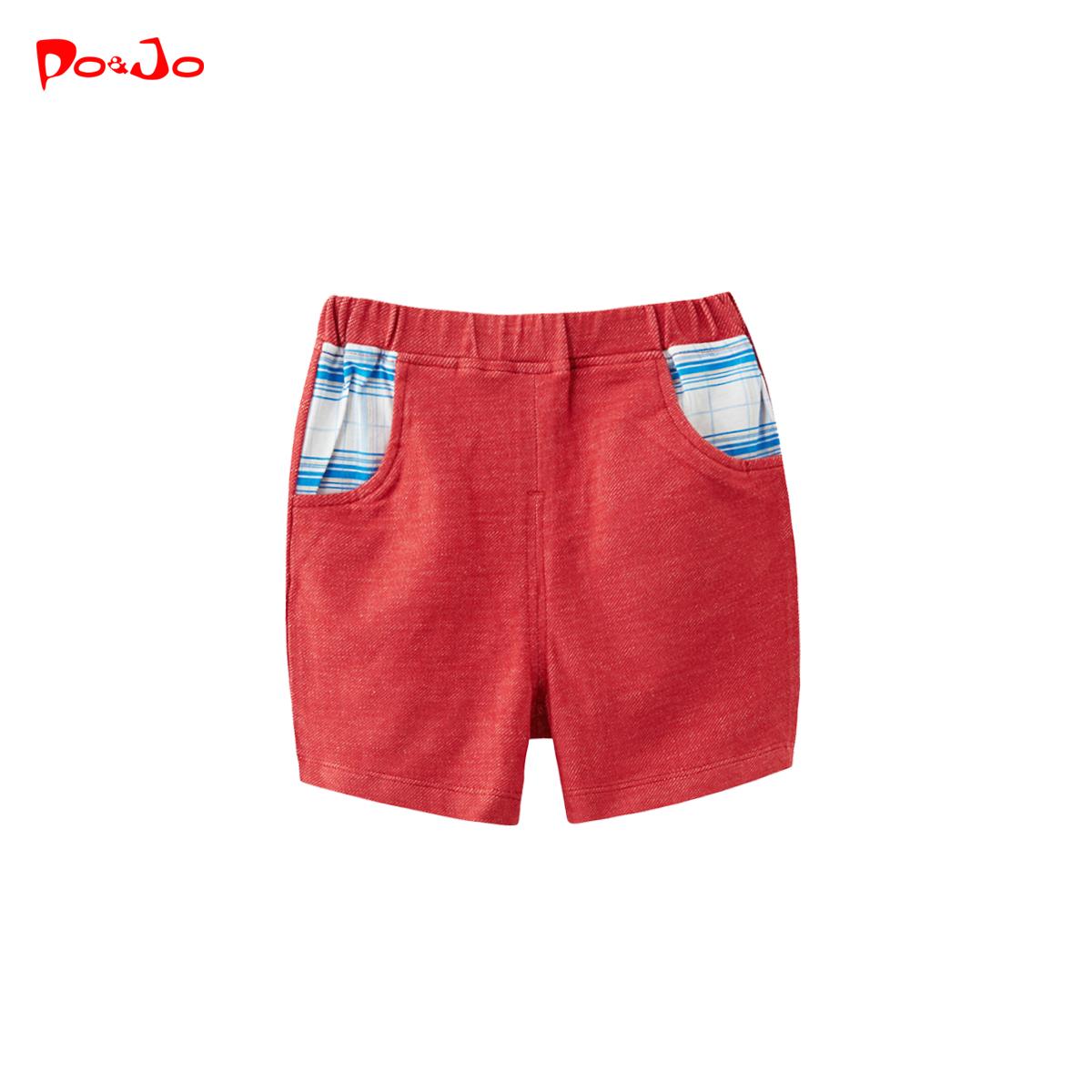 皮偌喬夏裝兒童裝男童女童寶寶短褲子嬰兒休閒褲外穿小童1夏季3歲