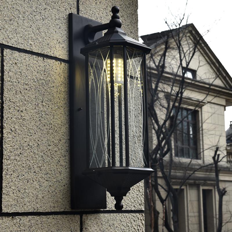户外壁灯新中式防水别墅外墙围墙大门口门柱庭院大号露台室外壁灯