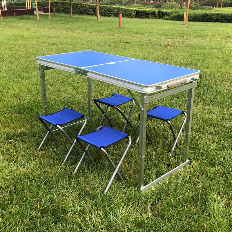 摆摊桌子餐桌便携式展业桌书桌地摊桌双杆加厚包邮 户外折叠桌椅