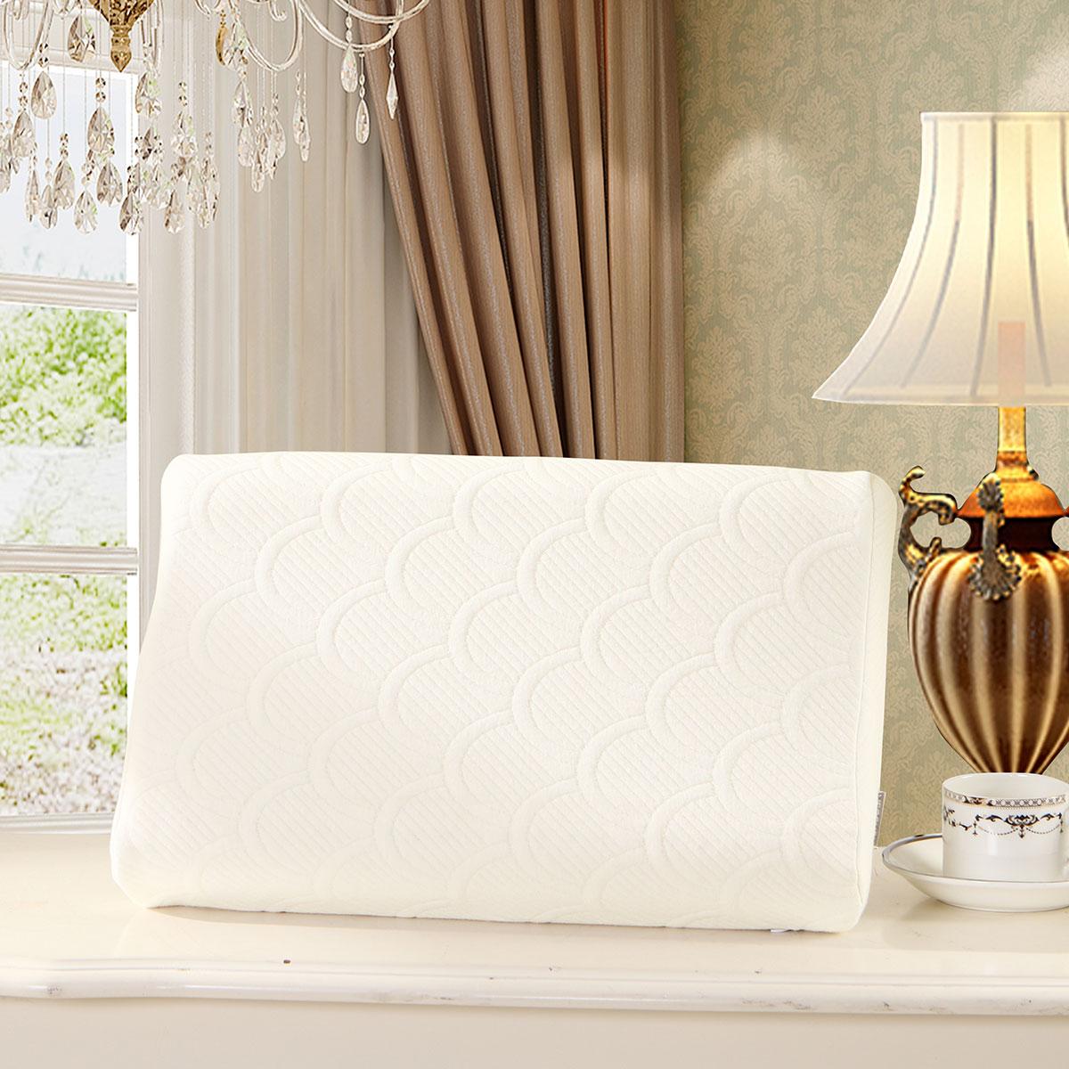 水星家纺 乳胶枕成人睡眠单人枕芯一只装枕头家用护颈椎枕