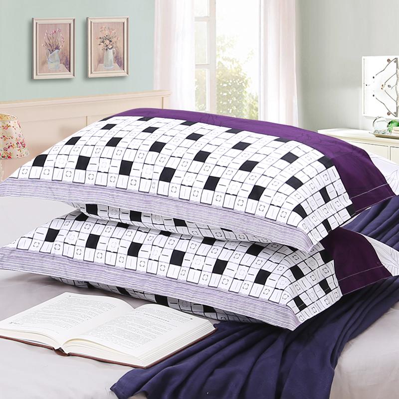 枕头套大号一对韩版成人枕套夏季枕头罩磨毛单人韩式一对装忱头套