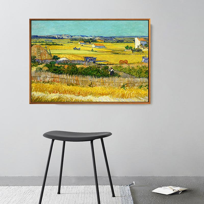 《豐收》梵高客廳裝飾畫有框電表箱臥室油畫玄關臥室床頭成品北歐