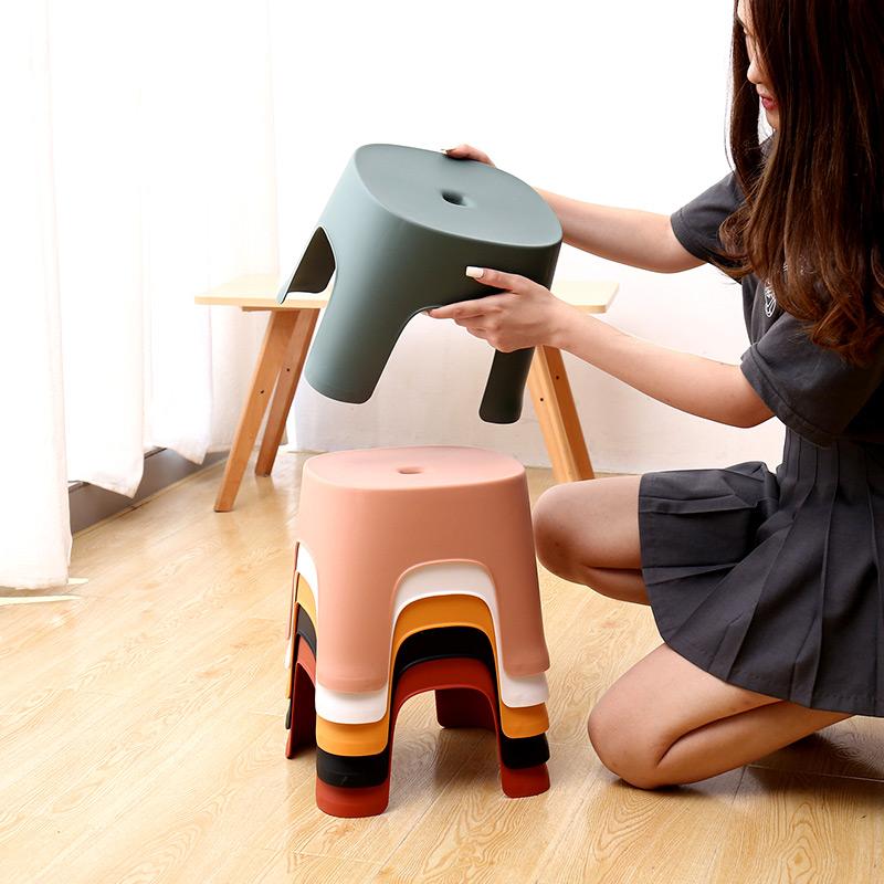 小凳子塑料板凳家用兒童凳卡通加厚防滑踩腳膠凳腳踏寶寶矮凳洗澡