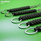 Outdoor wilderness survival umbrella rope key chain hand-woven decorative flashlight rope knife pendant key chain hanging buckle