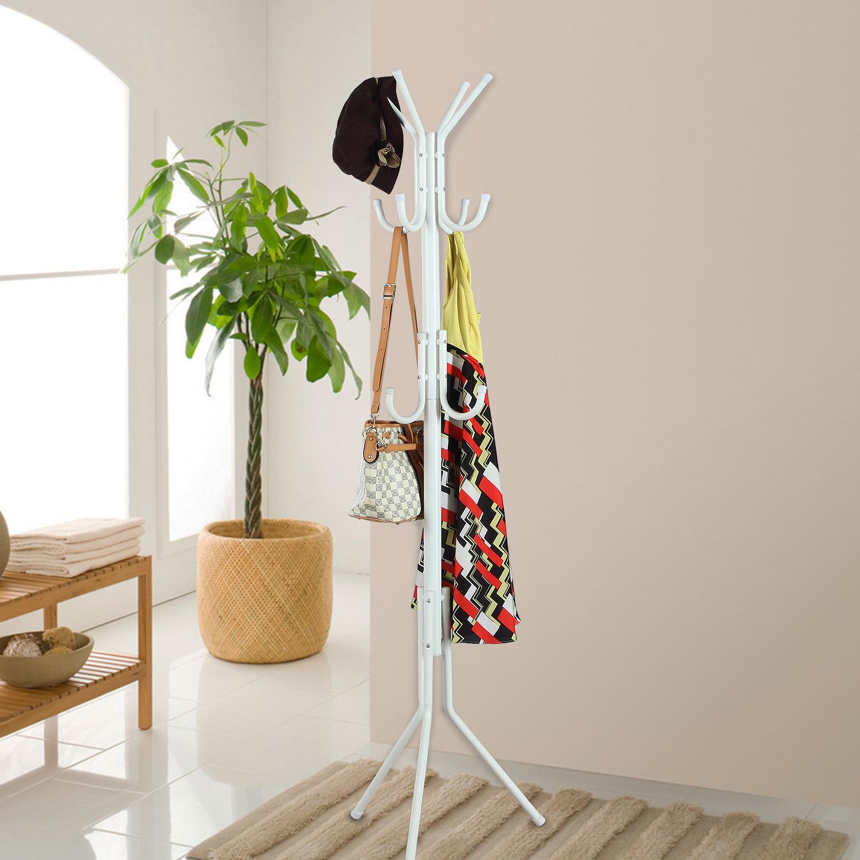 挂衣服的架子挂衣架落地架时尚创意衣帽架铁艺架客厅彩色晾衣架子