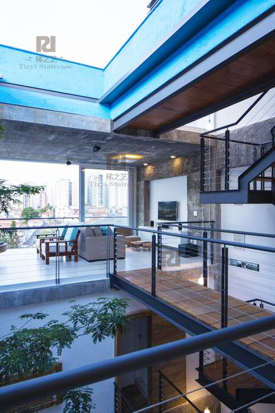 工业风格楼梯 公寓楼梯 办公楼梯 工业楼梯 钢木楼梯 阁楼楼梯