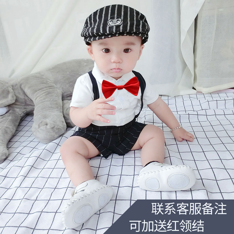 男童男孩帅气春秋套装洋气一周岁礼服西装宝宝绅士秋季衣服秋装潮