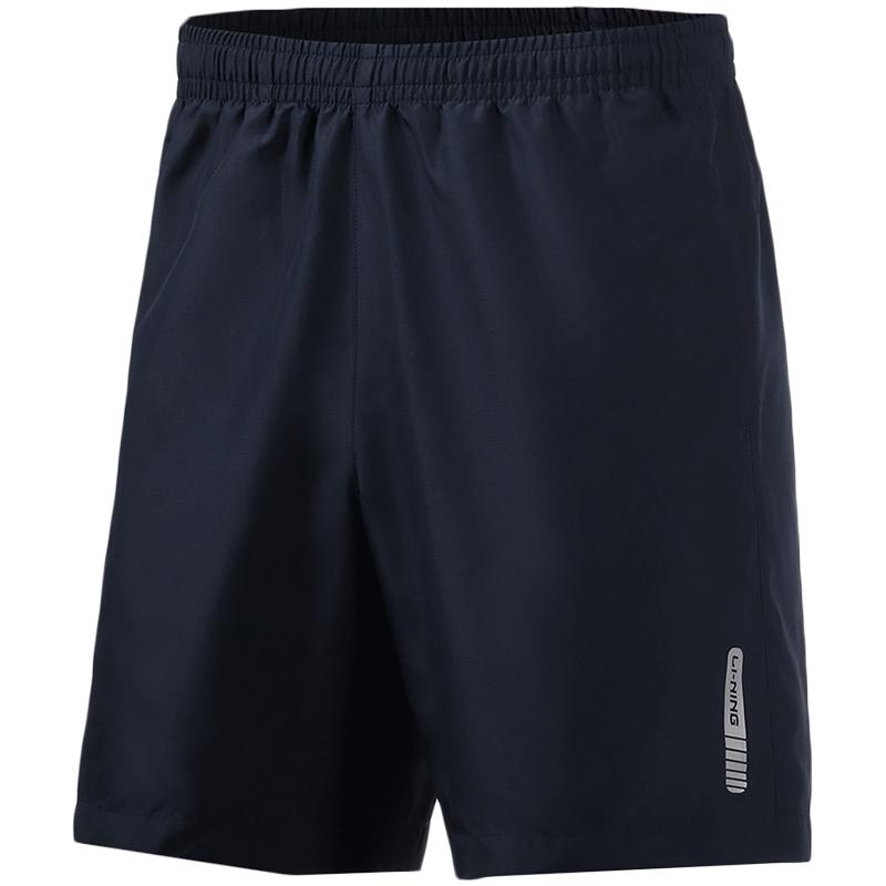 李宁运动短裤男士薄款速干健身夏季官方跑步冰丝宽松运动五分裤子
