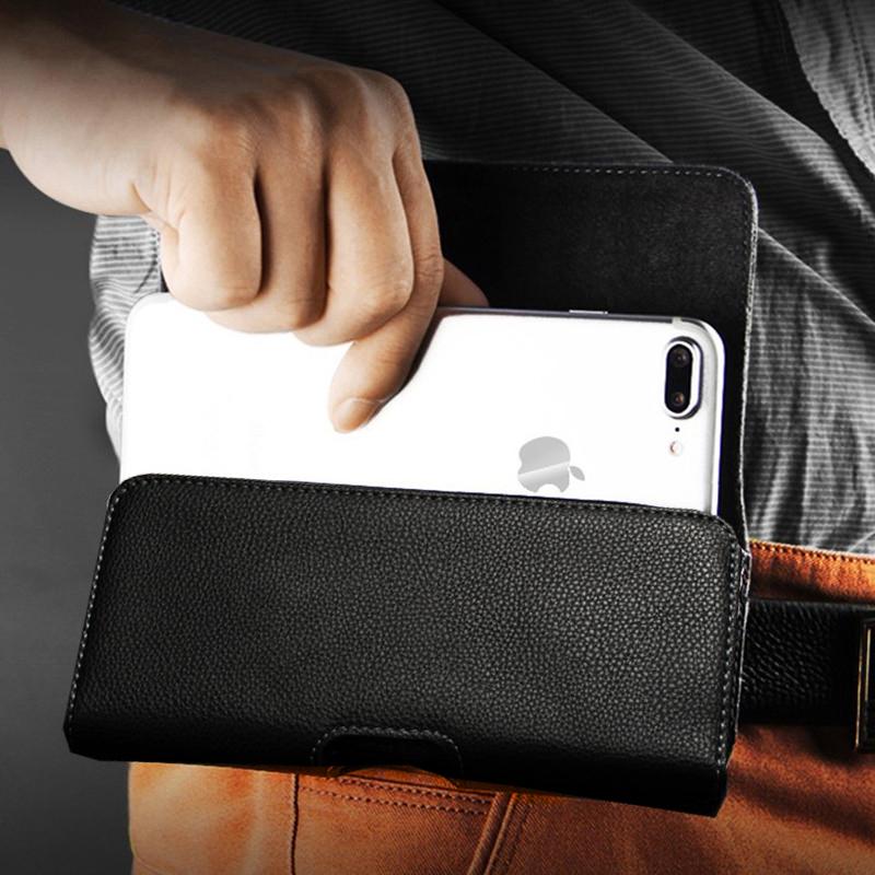 Nuoku手机腰挂皮套真皮腰包中老年男跨腰间上穿皮带翻盖式保护套