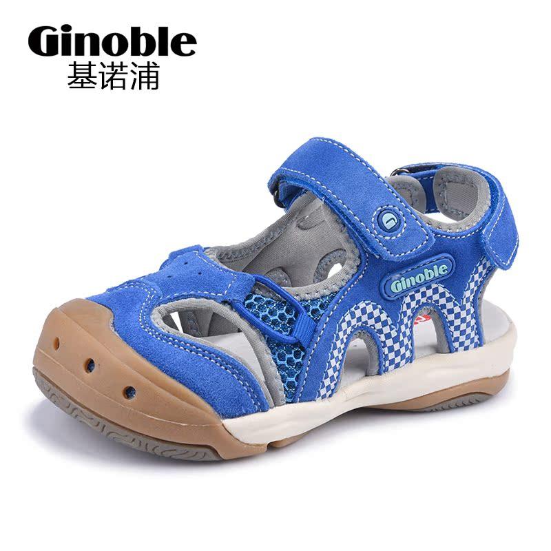 基诺浦新夏款防滑男女童鞋包头凉鞋机能鞋5-10岁中童凉鞋TXGZ3079
