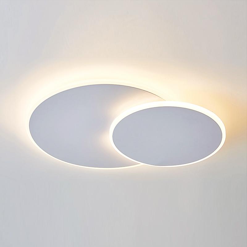 灯卧室书房阳台灯光艺术灯 LED 北欧现代简约吸顶灯无极调光可遥控