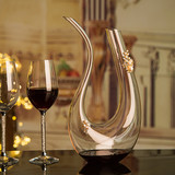 SF luxury crystal wine decanter u-shaped home glass decanter large harp wine jug