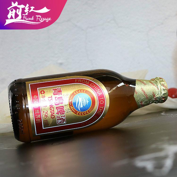 整箱青岛啤酒296ml*24瓶青岛小金质青岛小棕金前红