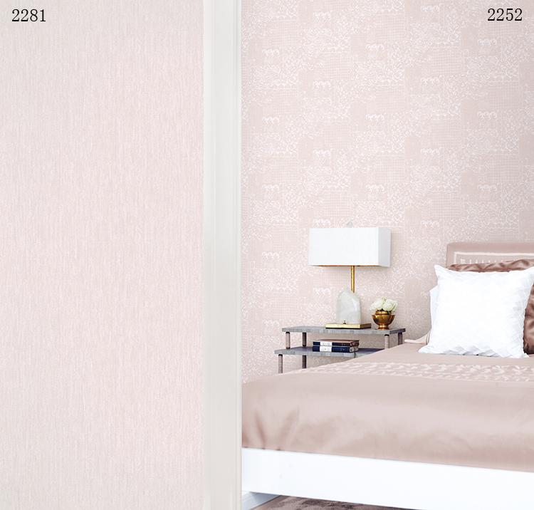 版 AB 壁紙可擦洗墻紙淺粉蕾絲花紋美式浪漫婚房溫馨臥室 電影 現貨韓國
