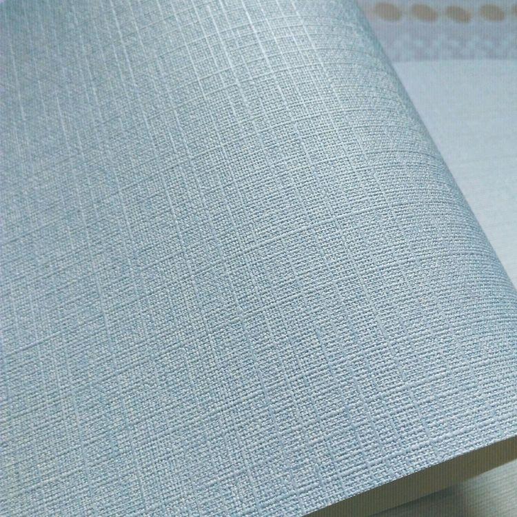 平 16.5 壁纸墙纸可擦洗北欧风格地中海灰蓝色细布纹客厅 LG 现货韩国