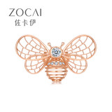 Zakaly 18K rose gold diamond brooch high-end women cute little bee shape diamond new authentic