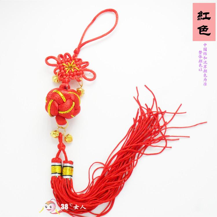 精品广西靖西壮族手工手编小绣球中国结幸运球装饰工艺品铃铛流苏