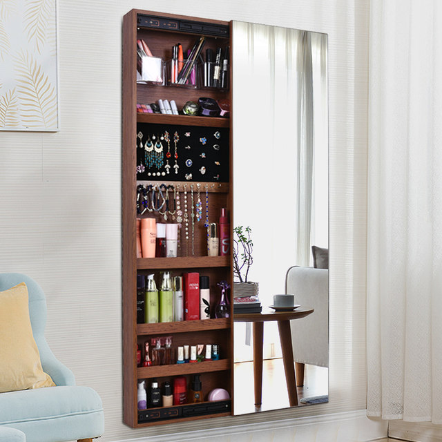 Full Length Mirror Home Full Length Mirror Jewelry Storage Storage Cabinet Cloakroom Wall Mounted Side Pull