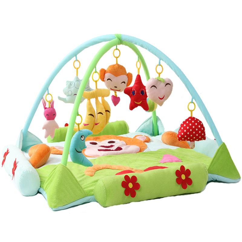 婴儿用品超大音乐宝宝游戏垫毯爬行垫健身架益智玩具0-3-6-12个月