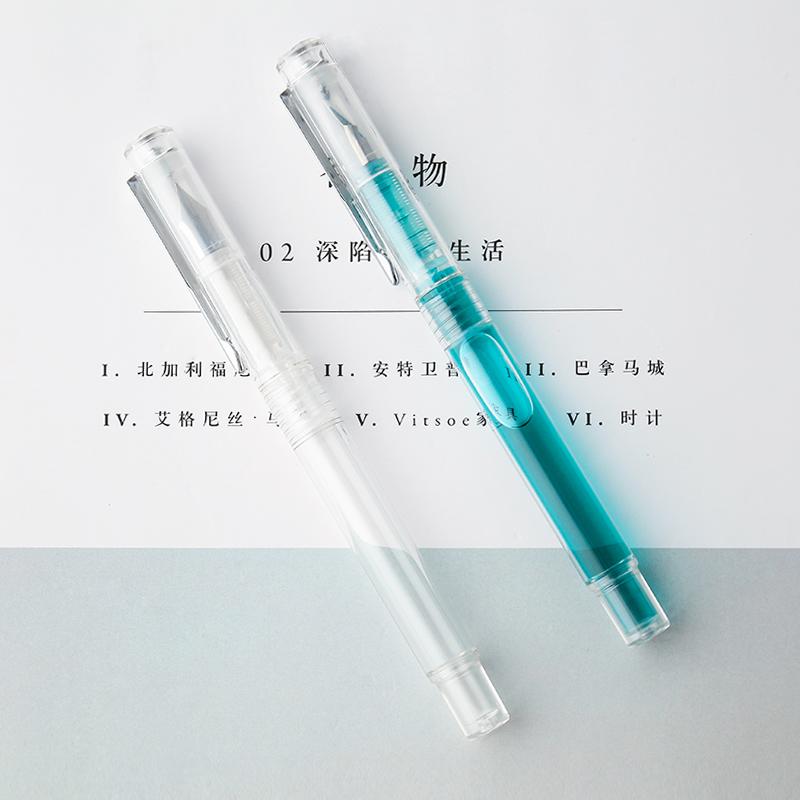 tramol透明示范彩墨钢笔男女学生用练字成人钢笔 笔杆灌墨派顿F10