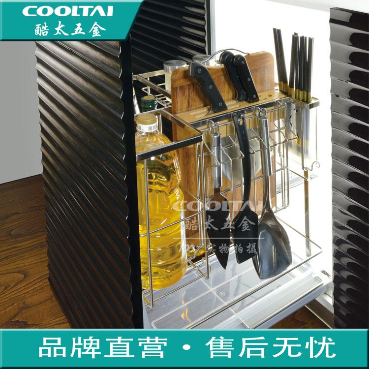 轨道拉篮 blum 不锈钢阻尼调味篮厨房橱柜百隆 304 厂家特价实心方钢