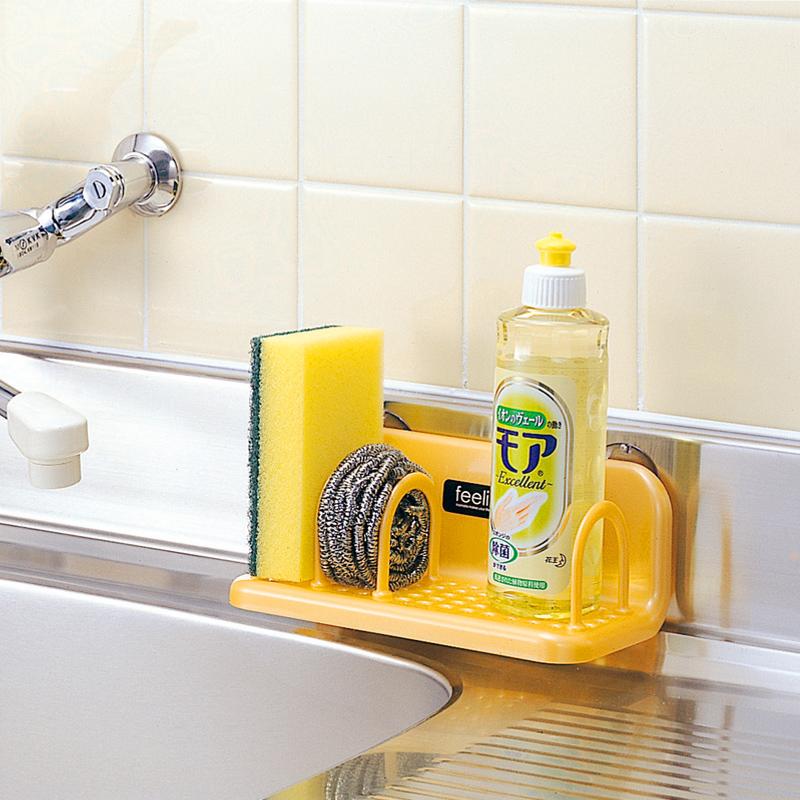 日本進口inomata廚房吸壁式水槽瀝水置物架收納架小物收納整理架