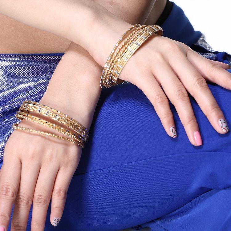 飛魅印度肚皮舞手環表演手飾 曲紋組合手環(五個/包)多色手鐲鏈