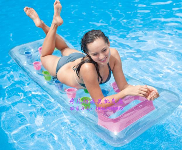正品INTEX水上充气浮排浮床冲浪躺椅漂流游泳圈坐骑成人加厚包邮