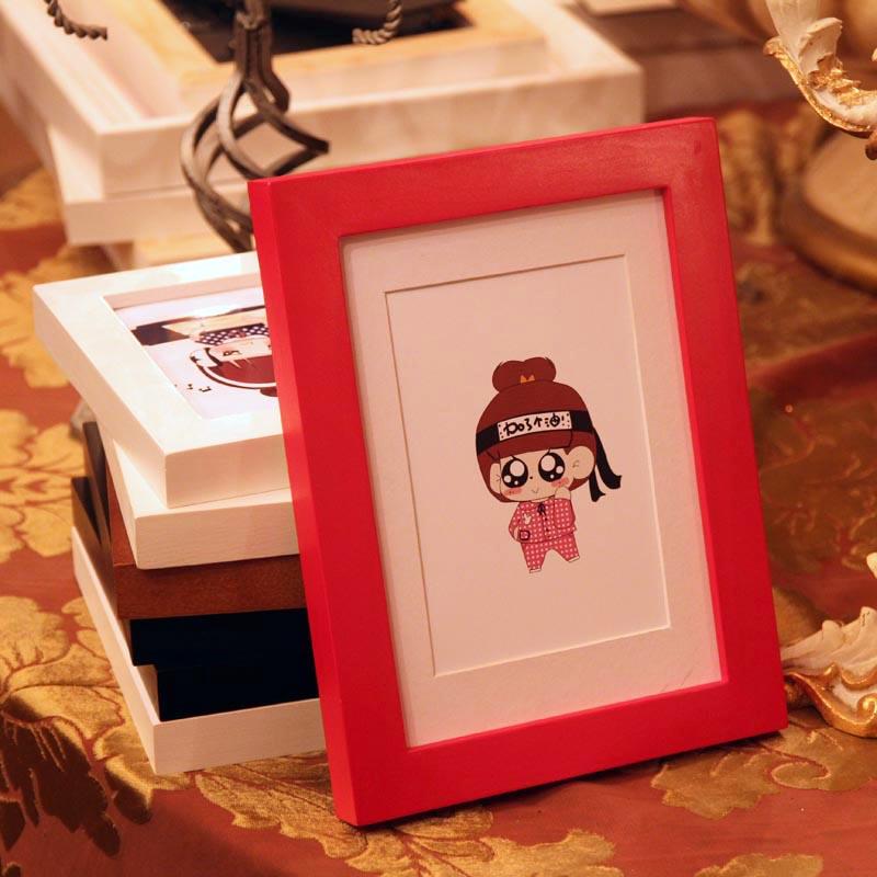 实木挂墙相框摆台7寸6 5 8 10 11 12寸A4相片架创意简约儿童画框