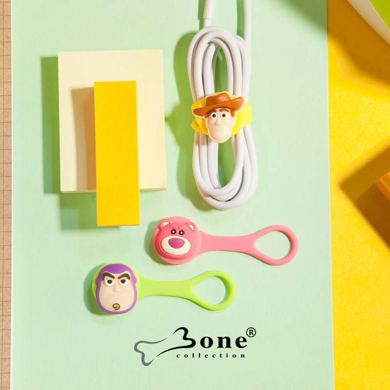 Bone蘋果7多功能耳機繞線器膠矽紮帶卡通束繩資料線綁帶韓國捆繩