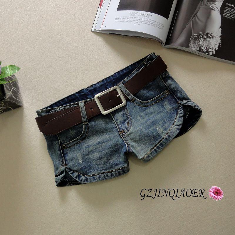新款牛仔短褲女夏韓版潮熱褲顯瘦低腰超短褲優質彈力性感褲腳開叉