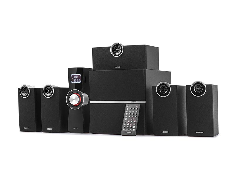 音响送蓝牙 5.1 家庭影院音箱电脑重低音炮电视 C6XD 漫步者 Edifier