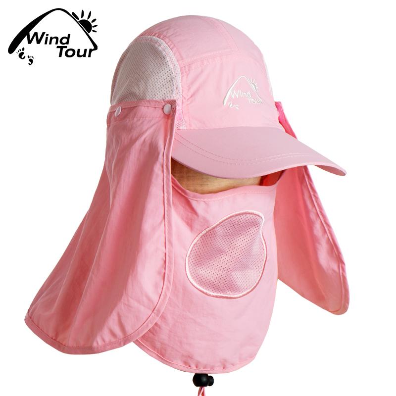 户外360度遮阳防晒防蚊男女速干帽太阳帽鬼子帽丛林帽