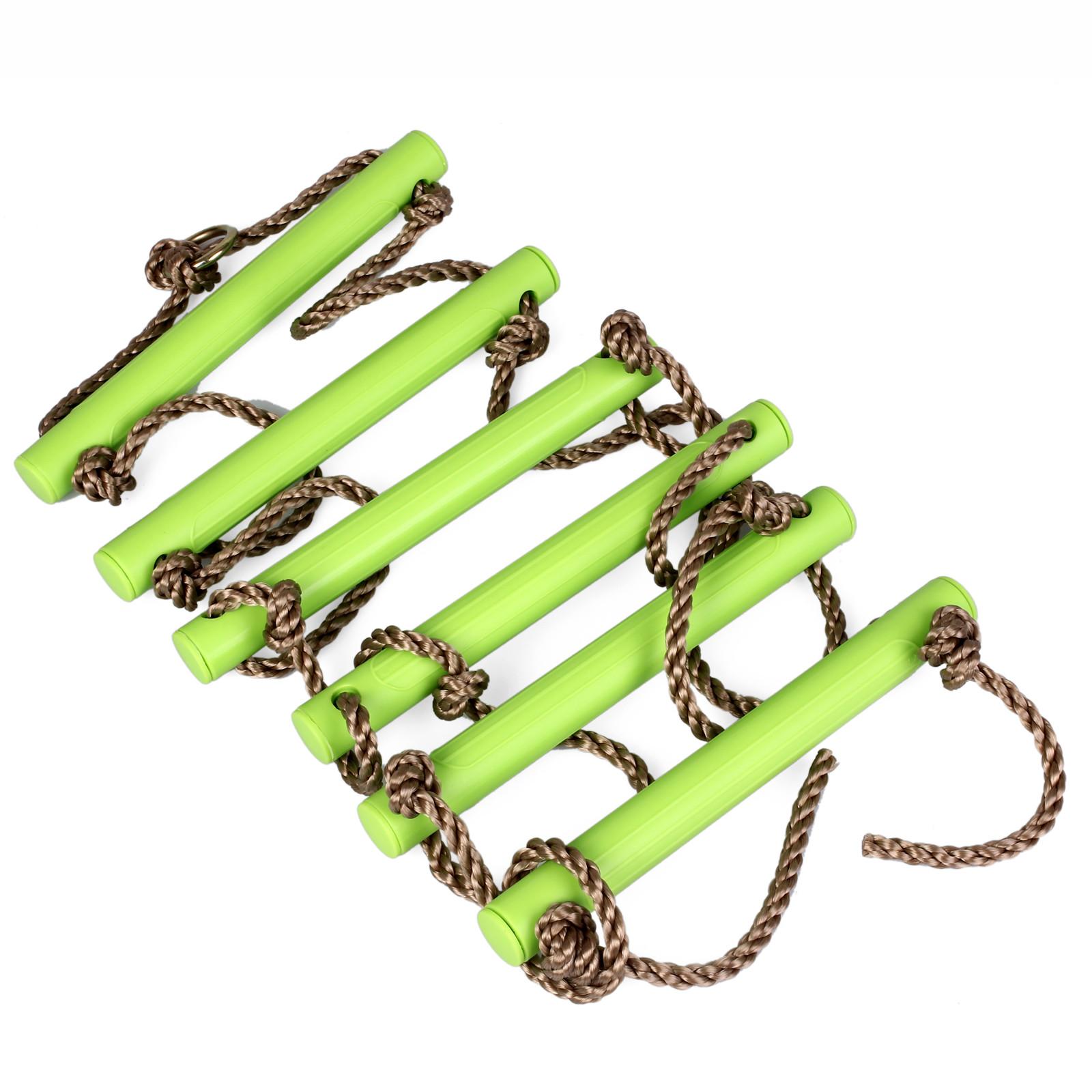 出口欧洲 六档攀爬绳梯 塑料爬梯 加粗绳索 6股3节 儿童感统训练