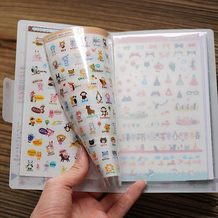 创意 DIY相册可爱卡通装饰贴纸套装(8张)附卡通封套