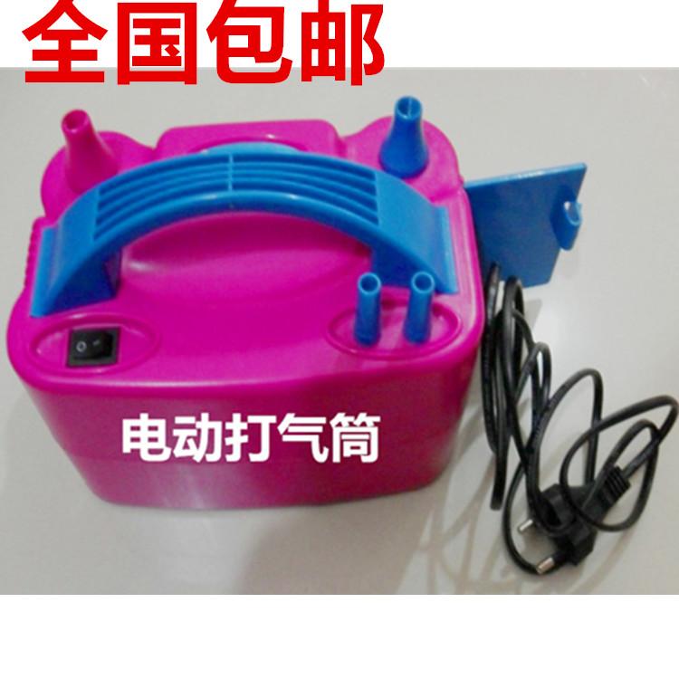 包邮双孔电动打气筒气球专用汽球电动打气泵电动打气桶快速充气泵