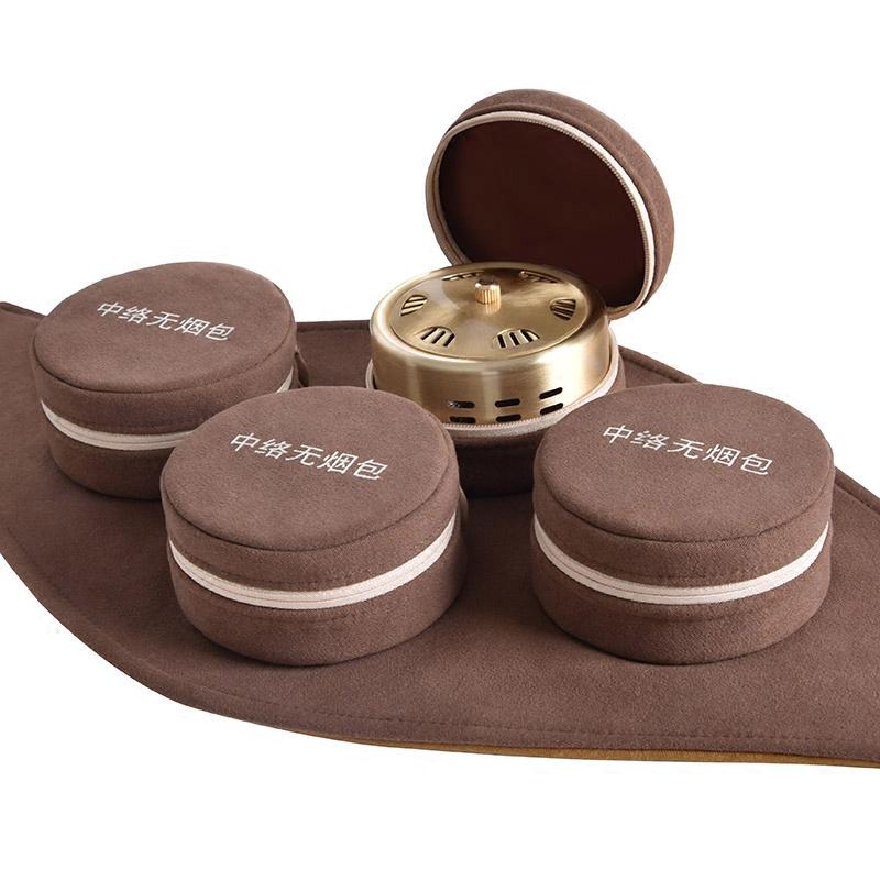 艾灸盒纯铜随身灸家用宫寒熏蒸仪妇科无烟温灸艾灸仪器家庭式全身