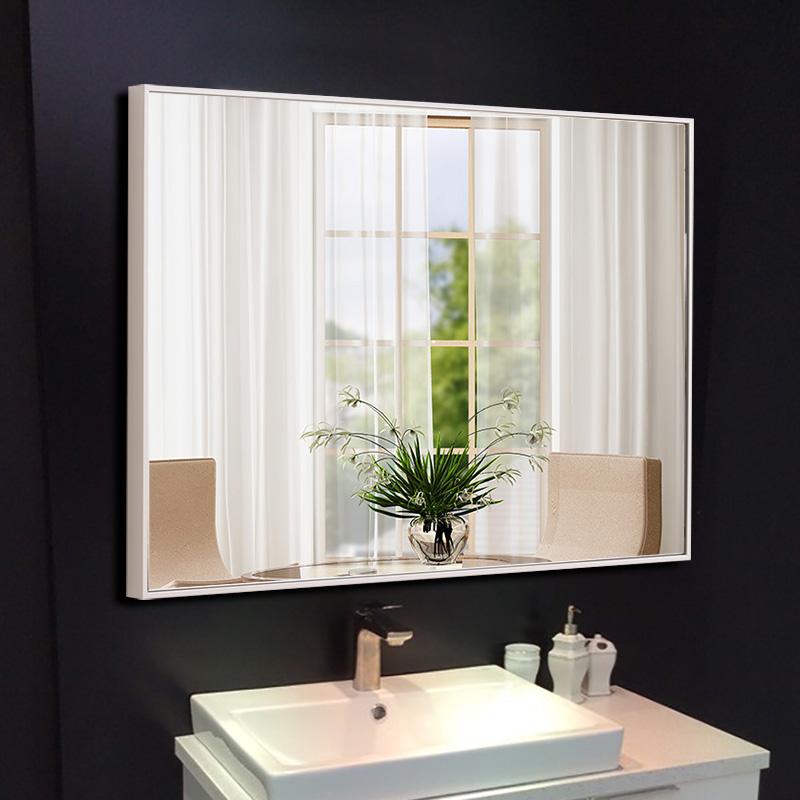 YISHARE 壁挂卫生间镜子洗手间镜防水卫浴镜厕所挂镜简约浴室镜子