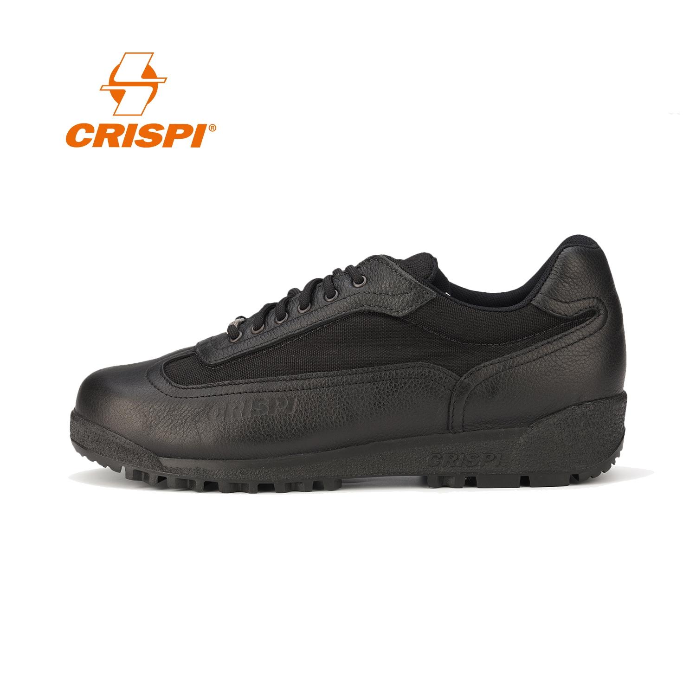CRISPI 鞋戶外休閒春夏季男防水輕便透氣防滑真皮低幫徒步登山鞋