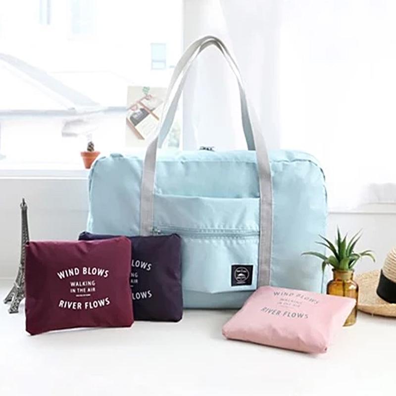 手提旅行包拉桿包行李袋旅行收納袋大容量短途單肩包女防水摺疊袋