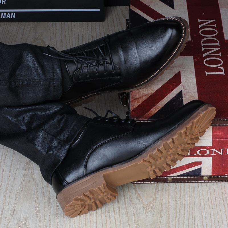 男士尖頭皮鞋夏季耐磨商務正裝休閒男鞋內增高韓版英倫繫帶牛筋底