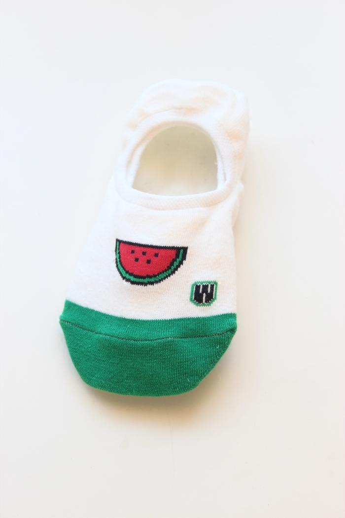 纯棉卡通水果 女生硅胶防滑 浅口袜子吸汗隐形袜低帮短袜 船袜