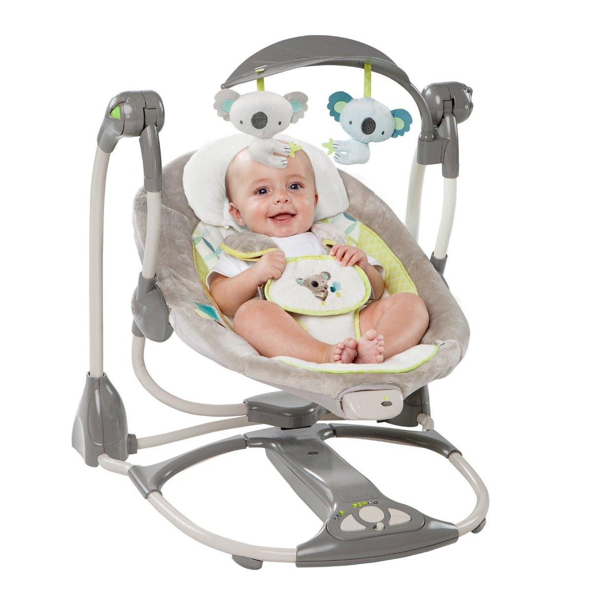 美国Ingenuity安抚摇椅婴儿摇摇床哄娃哄睡神器电动躺椅摇篮床