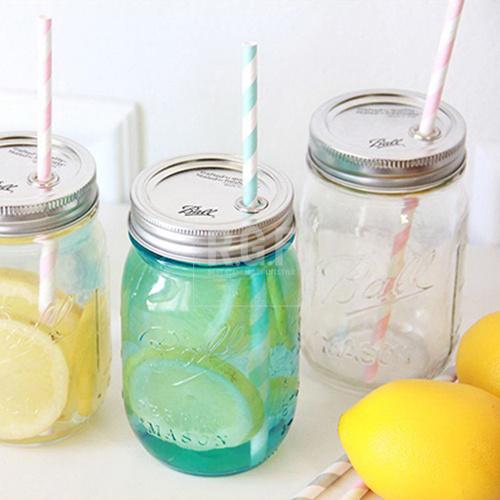 現貨美國製造Ball Mason Jar梅森瓶梅森罐玻璃吸管杯冰沙杯水杯