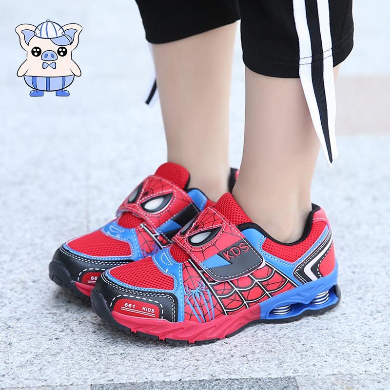 秋冬款蜘蛛侠童鞋4-5-6-7-8岁9男童冬季加绒运动鞋秋季小男孩鞋子