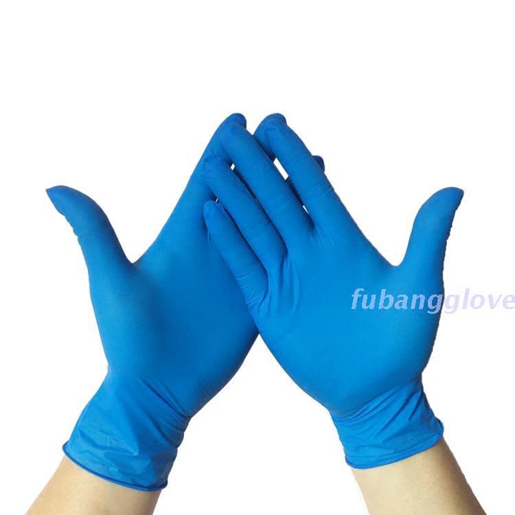 黑白色丁晴橡胶乳胶无粉加厚手套实验室防护耐油防酸工业手套10双