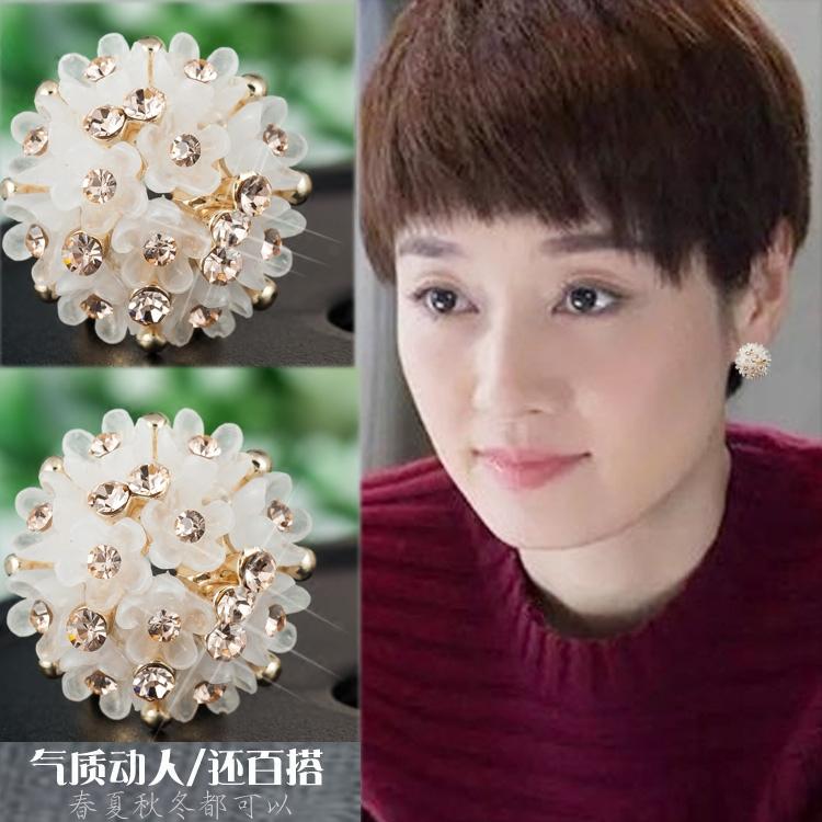 马伊琍同款时尚新款优雅气质清新果冻陶瓷耳环韩版可爱精致耳钉女